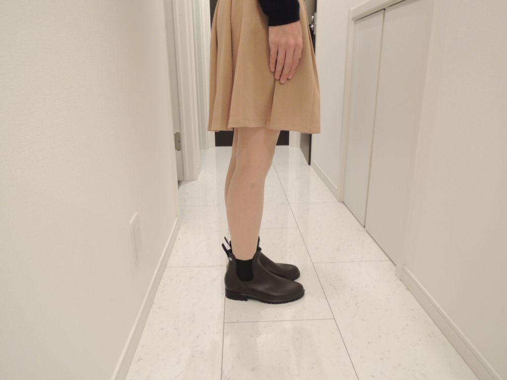 スカートで履いた時の様子1