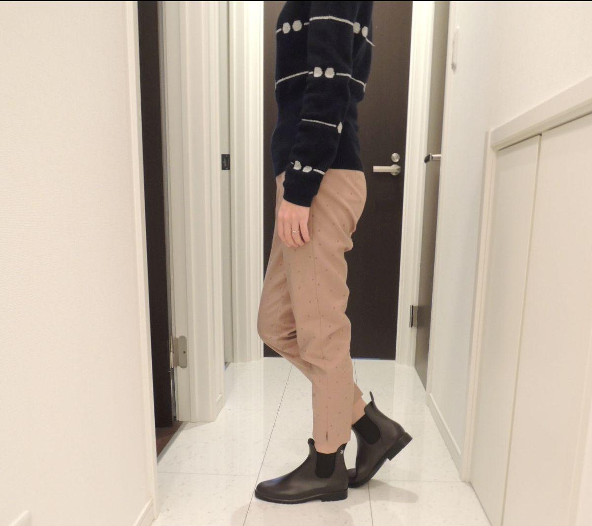 パンツで履いた時の様子2