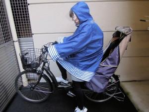 自転車に乗った写真