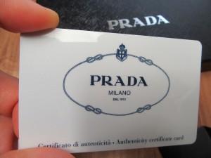 プラダ保証書 写真