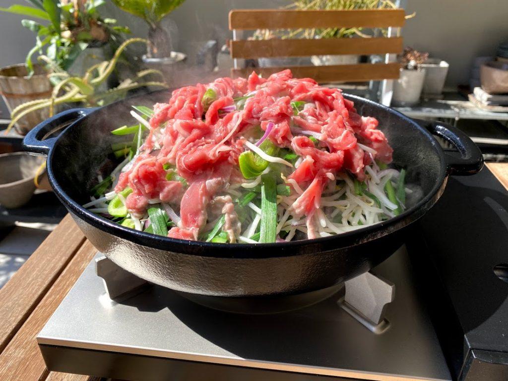 野菜とラム肉